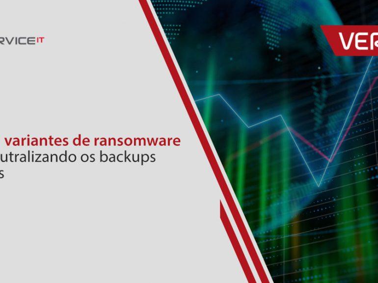 Como as variantes de ransomware estão neutralizando os backups de dados